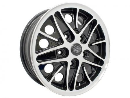 Wheel - COSMIC - 5x112 - 5.5x15 - Black & polished - ET20
