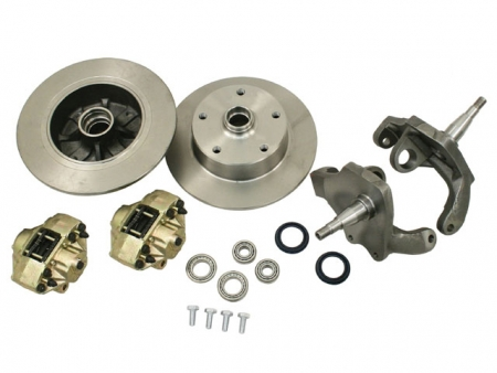 Front disc brake kit - 5x130 1947-1965 - with dropped spindle - Empi