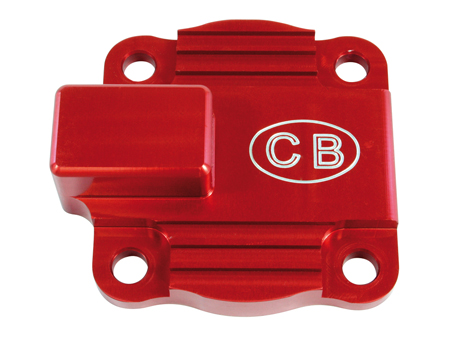 Oil pump cover with Full Flow outlet - CB performance - Red