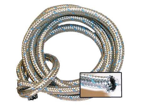 Gas hose 8 mm - (meter) - Stainless Steel braided