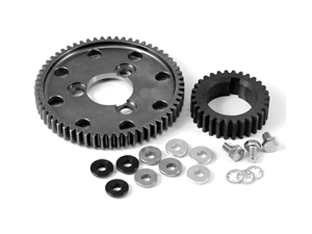 Kit - pulley & pinion - straight - CB Performance