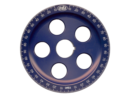 Crankshaft pulley - aluminium - with holes - blue - Scat