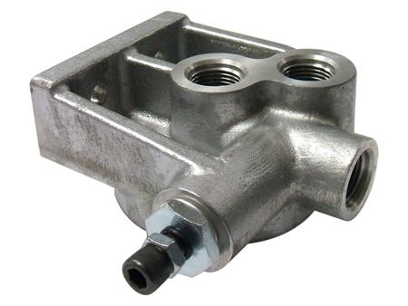 Full flow oil filter adapter - regulator - JC