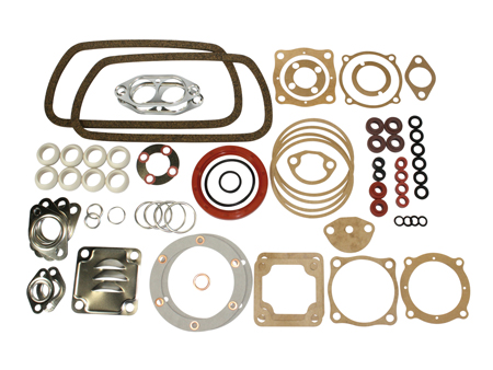 Engine gasket set - 13/15/1600cc - HQ ELRING - with crank seal