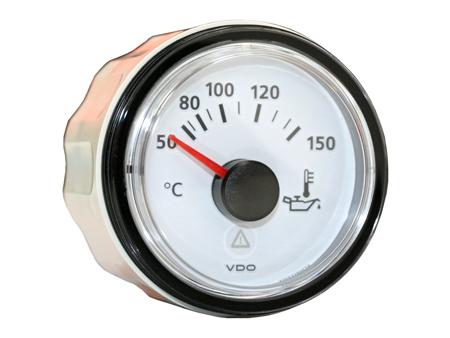 VDO Viewline oil temperature gauge - 50-150°C - 52 mm diameter - white