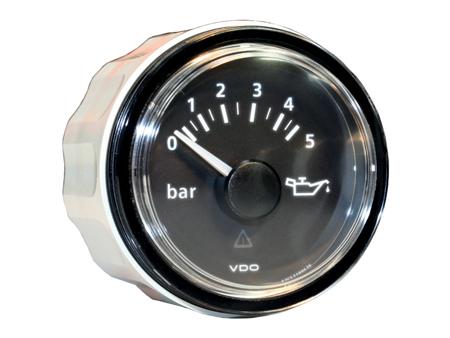 VDO Viewline oil pressure gauge - 0-5 bars - 52 mm diameter - black