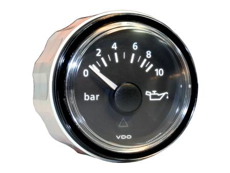 VDO Viewline oil pressure gauge - 0-10 bars - 52 mm diameter - black