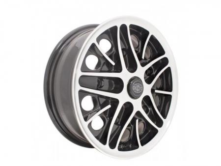 Wheel - COSMIC - 5X205 - 5.5x15 - Black & polished - ET22
