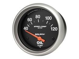 Oil temperature gauge - AUTOMETER Sport Comp - 40-120° - 67 mm diameter